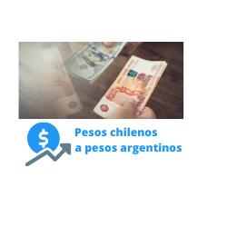 pesos chilenos a argentinos